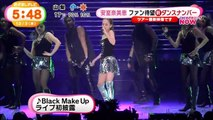 Amuro performed Red Carpet & Black Make Up @ namie amuro LIVEGENIC 2015-2016