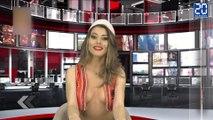La nouvelle présentatrice TV en Albanie ! - Le rewind du vendredi 4 décembre 2015.