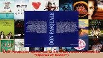 Download  Don Pasquale Opera Buffa En Trois Actes Collection Operas et lieder Ebook Online