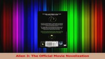 PDF Download  Alien 3 The Official Movie Novelization Read Full Ebook