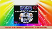 Doctor Who Daleks Mission to the Unknown Read Online
