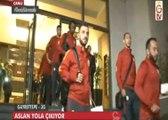 Galatasaray-Bursaspor maçı öncesi bilgiler, futbolcuların yola çıkış görüntüleri. (GS TV - 4 Aralık)
