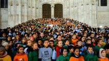 Beauvais: 1300 enfants chantent pour le Téléthon
