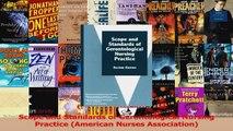 Scope and Standards of Gerontological Nursing Practice American Nurses Association PDF