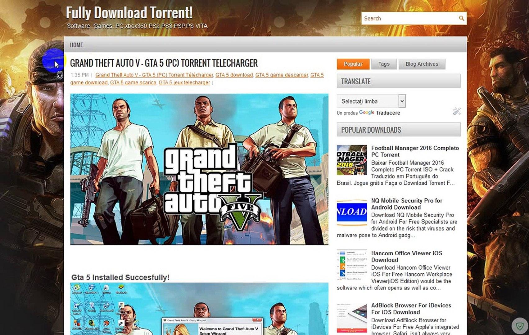 Grand Theft Auto V - GTA 5 (PC) Torrent Télécharger