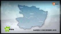 METEO DECEMBRE 2015 [S.12] [E.5] - Météo locale - Prévisions du samedi 5 décembre 2015
