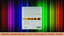 PDF Download  Obesity Epidemiology From Aetiology to Public Health PDF Full Ebook
