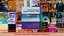 PDF Download  CognitiveBehavioural Integrated Treatment CBIT A Treatment Manual for Substance Download Online