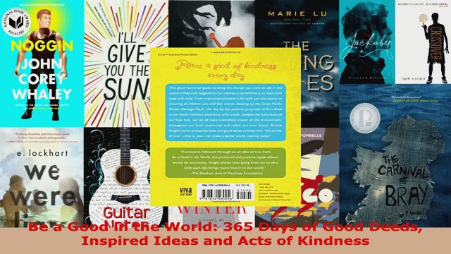 Read  Be a Good in the World 365 Days of Good Deeds Inspired Ideas and Acts of Kindness Ebook Free
