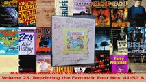 Read  Marvel Masterworks Volume The Fantastic Four Volume 25 Reprinting the Fantastic Four Ebook Free