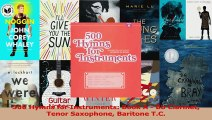 PDF Download  500 Hymns for Instruments Book A  Bb Clarinet Tenor Saxophone Baritone TC Download Full Ebook