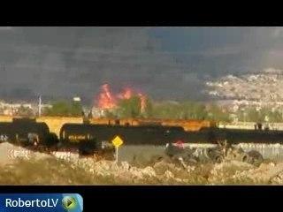 Big Fire in LAs Vegas