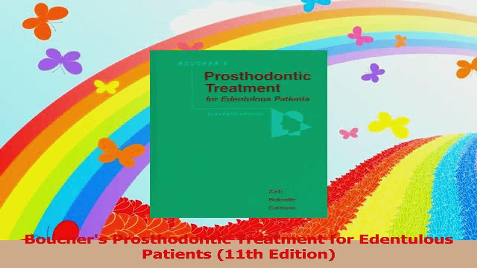 Bouchers Prosthodontic Treatment for Edentulous Patients 11th Edition PDF