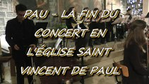 LES W-D.D. MICHOU NEWS - 29 NOVEMBRE 2015 - PAU - LA FIN DU CONCERT EN L'ÉGLISE SAINT VINCENT DE PAUL .
