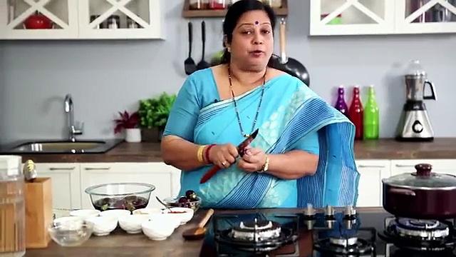 Bharli Vangi – Stuffed Brinjals Recipe by Archana – Maharashtrian Main Course Dish in Marathi