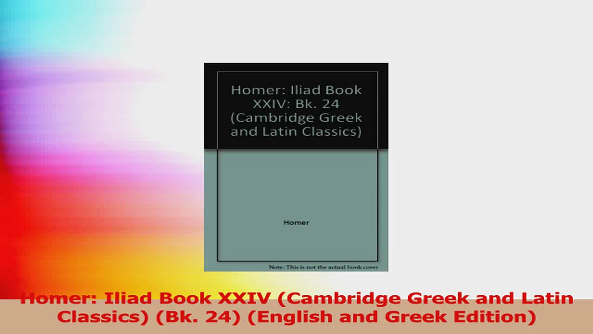 Homer: Iliad Book 22 (Cambridge Greek and Latin Classics)
