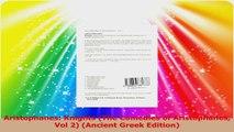Aristophanes Knights The Comedies of Aristophanes Vol 2 Ancient Greek Edition PDF