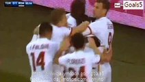 Miralem Pjanic Goal Torino 0 - 1 AS Roma Serie A 5-12-2015