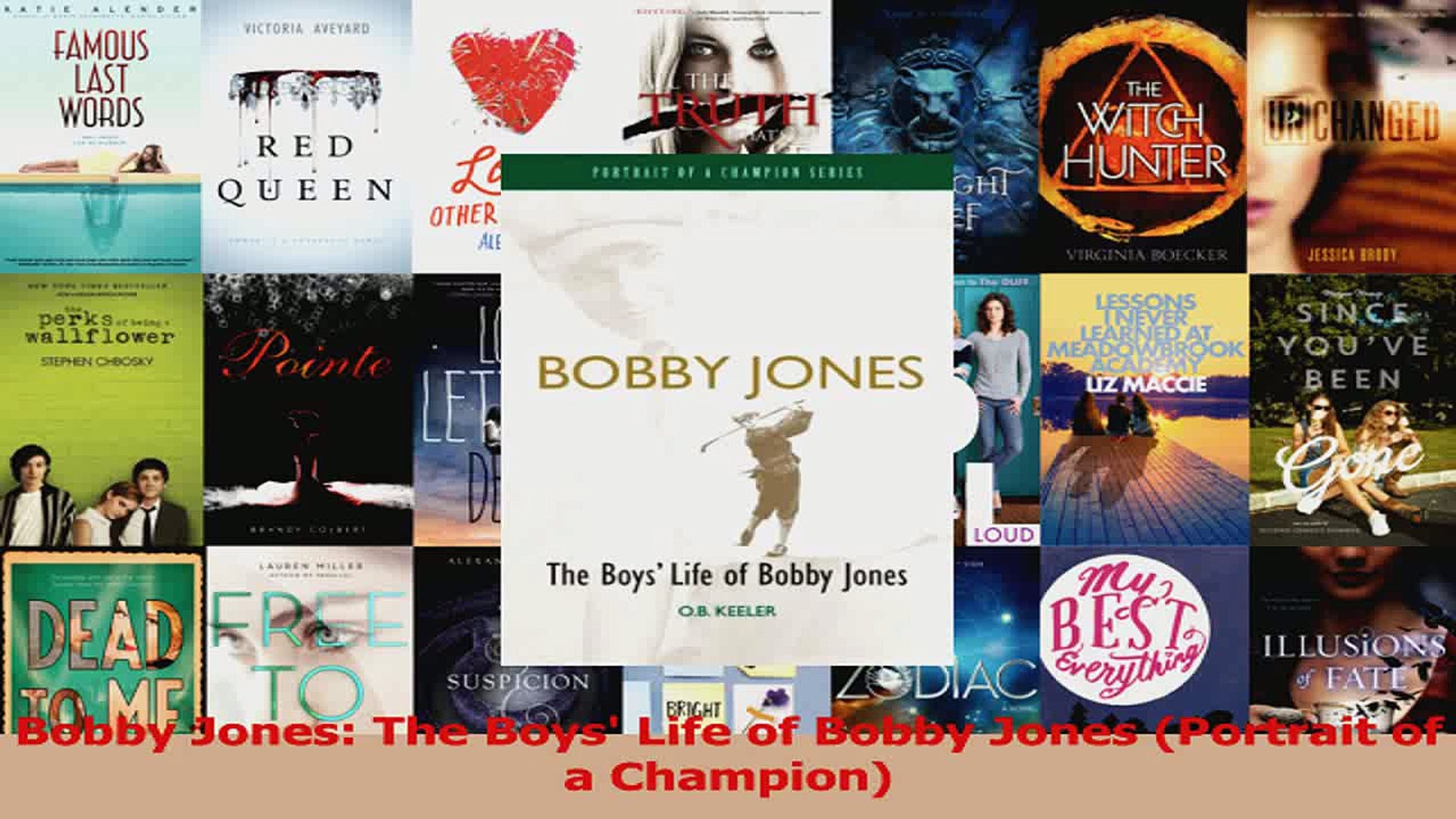 Read  Bobby Jones The Boys Life of Bobby Jones Portrait of a Champion Ebook Free