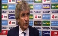 Manuel Pellegrini Post-Match Interview - Stoke City vs Manchester City 2-0 -