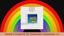Mosbys Textbook for Medication Assistants 1e PDF
