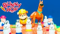BUNNY HOP Game Paw Patrol Rubble Plays Scooby Doo in Bunny Hop Video Toy Unboxing