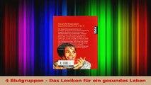4 Blutgruppen  Das Lexikon für ein gesundes Leben PDF Lesen