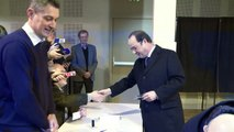 François Hollande a voté à Tulle