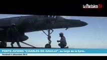 Des avions chargés de bombes décollent du «Charles-de-Gaulle»