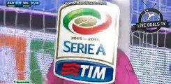 Carlos Bacca Amazing Powerful Shot - Carpi vs AC Milan - Serie A - 06.12.2015