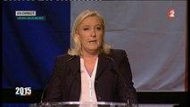 """Régionales - Marine Le Pen : """"Le FN est le premier parti de France"""""""