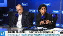 """Rachida Dati : """"Si ça continue le Front national va être au pouvoir bien au-dessus des régions"""""""