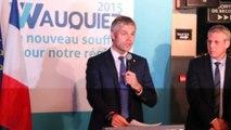 Réaction de Laurent Wauquiez suite au premier tour des élections régionales en Rhône-Alpes Auvergne