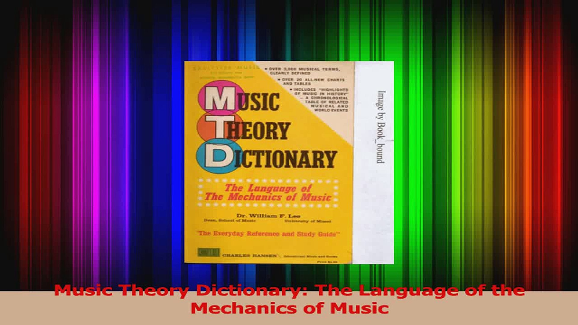 PDF Download  Music Theory Dictionary The Language of the Mechanics of Music Download Full Ebook