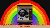 English Authors Series William Shakespeare Sonnets and Poems PDF