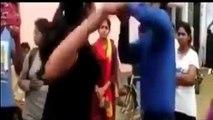 Angry Girl slaping to boy