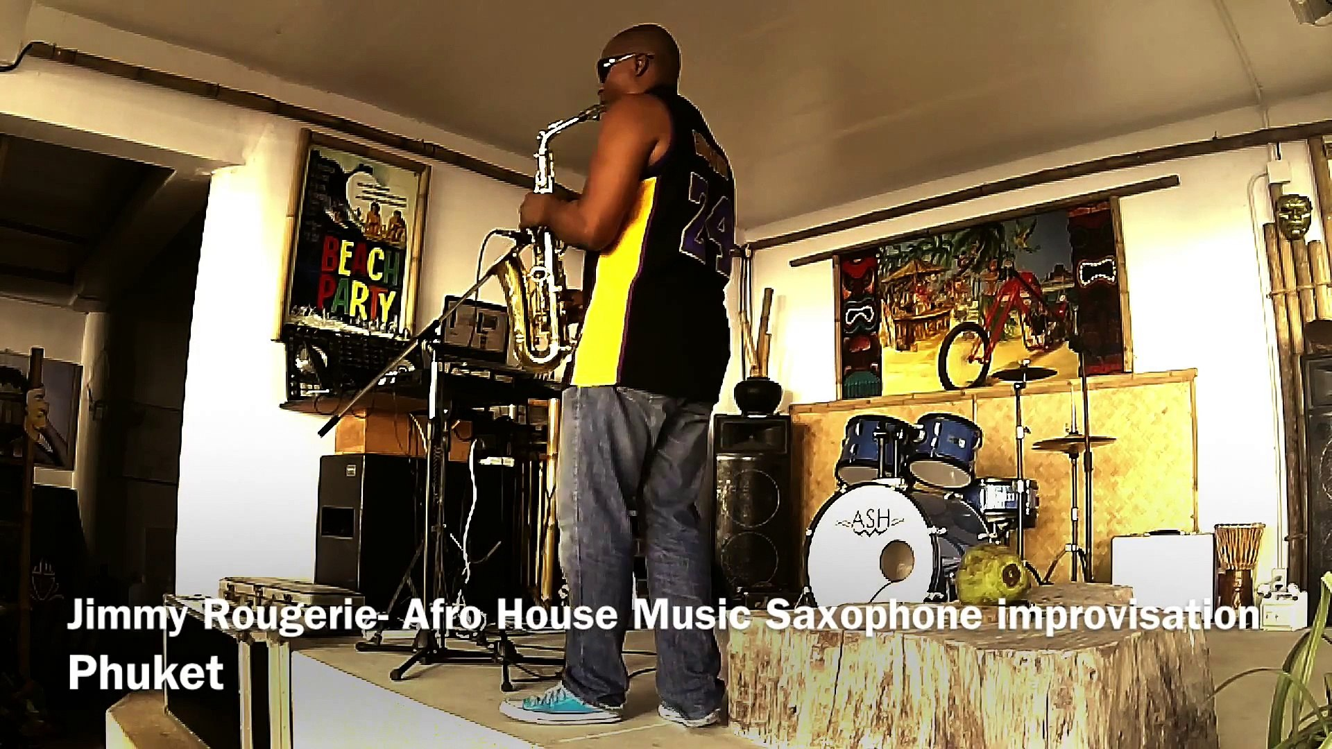JimmyRougerie _ DJ SAXOPHONE _ Afro House Music & Saxophone improvisation