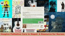 Hospice Palliative Care in Nepal A Resource for Nurses Read Online