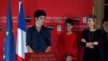 Discours de Corto Courtois, Président du jury lycéen national et de Mathilde PATOU, Lycée La Nativité de Aix en Provence