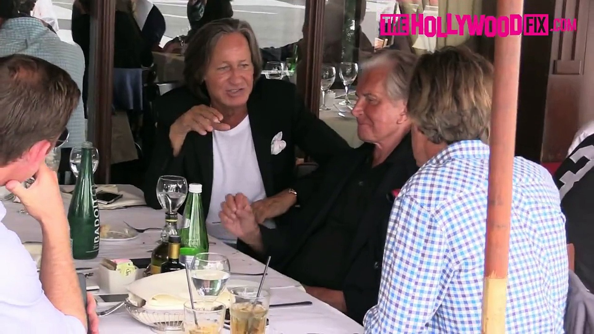 Mohamed Hadid, Eric Benet & George Hamilton Have Lunch At Il Pastaio 9.15.15