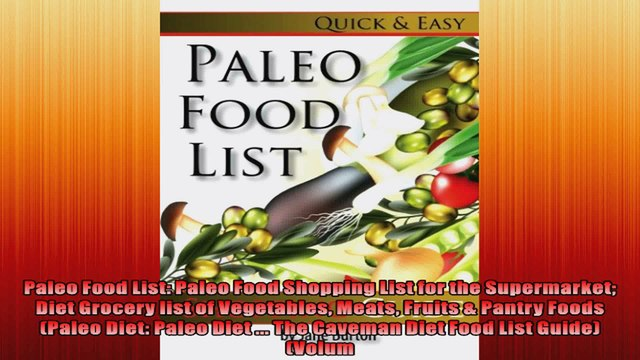 Paleo Food List Paleo Food Shopping List for the Supermarket Diet Grocery list of