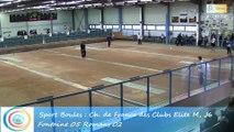 Second tour intégral, Club Elite masculin J6, Fontaine contre Romans, Sport Boules, saison 2015-2016