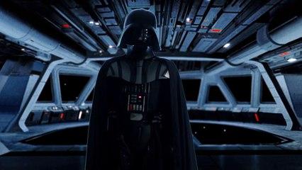 Dark Vador joue la marche impériale à la harpe laser