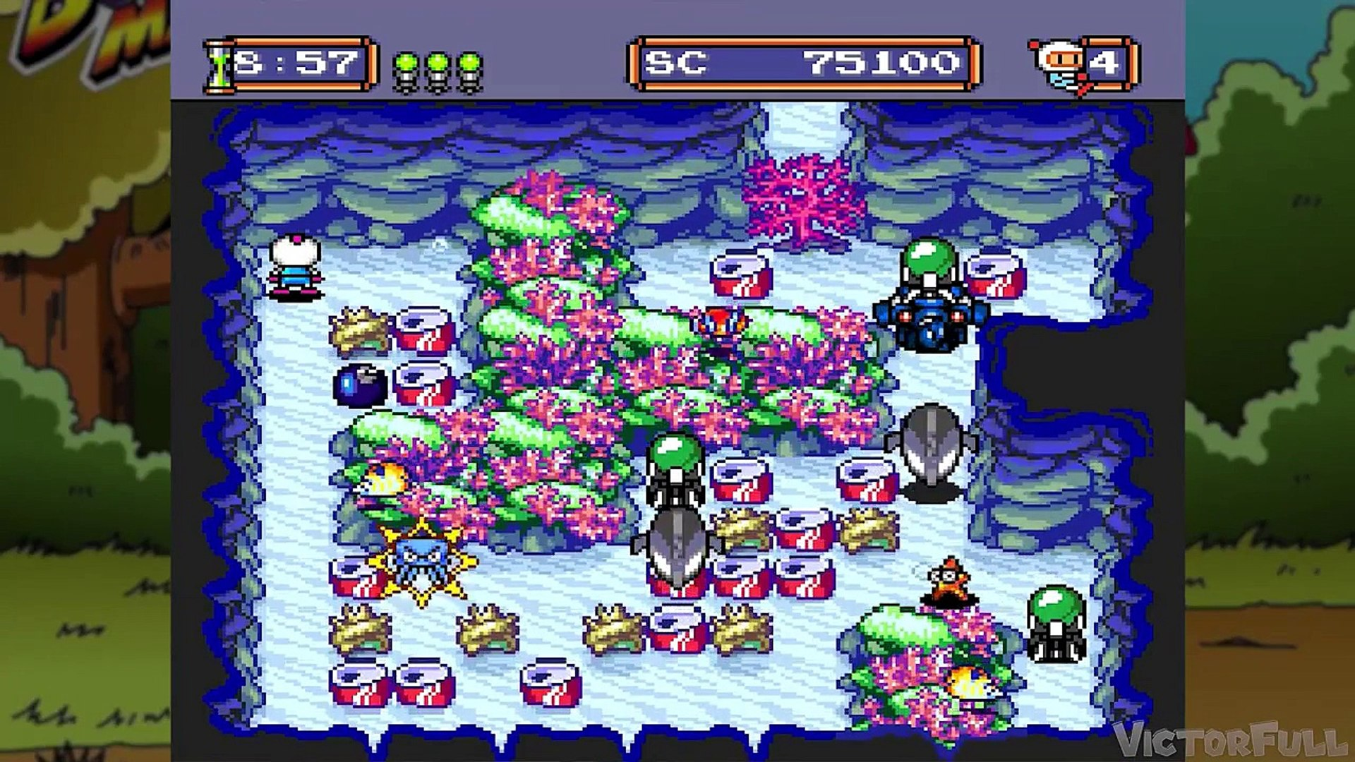 Bomberman 94: #3 Tainhas da Desgraça (Fundo do Mar)