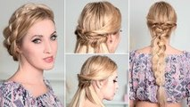 Holiday hairstyles with braids for medium/long hair tutorial