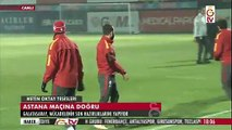 Galatasaray-Astana maçı öncesi Galatasaray antrenmanından görüntüler (7 Aralık- GS TV)