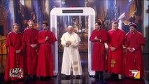 Crozza Papa Francesco monta la Porta Santa speciale parla del Mons dal soprannome Jessica