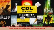 Read  CDL Exam Secrets Study Guide CDL Test Review for the Commercial Drivers License Exam PDF Free