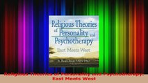 Religious Theories of Personality and Psychotherapy East Meets West Download
