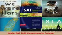Read  Kaplan SAT 2009 Comprehensive Program Ebook Free